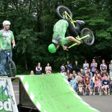 Reading Fair in PA. BMX Stunt Shows